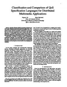 Classification and Comparison of QoS Specification ... - CiteSeerX