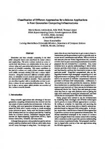 Classification of Different Approaches for e ... - Semantic Scholar