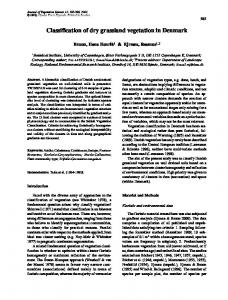 Classification of dry grassland vegetation in ... - Wiley Online Library