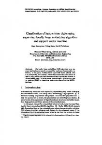 Classification of handwritten digits using supervised ... - UCL/ELEN
