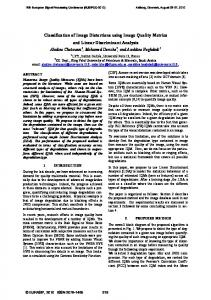 Classification of Image Distortions using Image Quality Metrics and ...