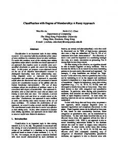 Classification with Degree of Membership: A Fuzzy ... - CiteSeerX