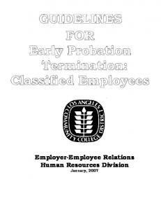 Classified Probation Termination