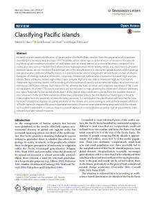 Classifying Pacific islands - Springer Link