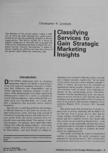 Classifying Services to Gain Strategic Marketing Insights - ebsco