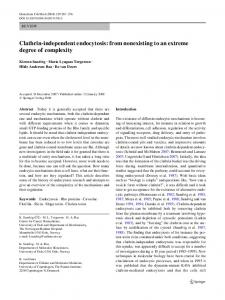 Clathrin-independent endocytosis - Society for Histochemistry