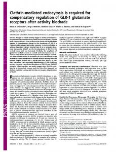Clathrin-mediated endocytosis is required for compensatory regulation ...