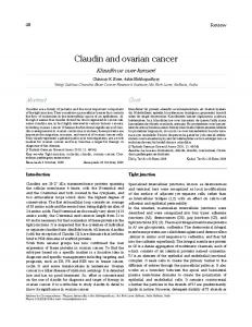 Claudin and ovarian cancer