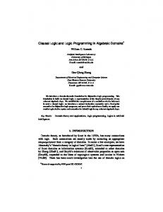 Clausal Logic and Logic Programming in Algebraic Domains*