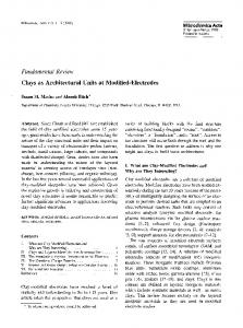 Clays as architectural units at modified-electrodes - Springer Link