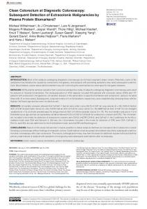 Clean Colorectum at Diagnostic Colonoscopy ... - SAGE Journals