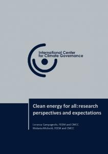 Clean energy for all:research perspectives and ...