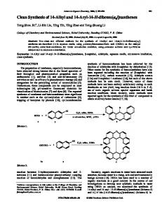 Clean Synthesis of 14-Alkyl and 14-Aryl-14-H ... - IngentaConnect