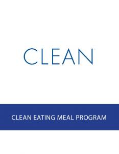 CLEANSE SAMPLE MEAL PLAN