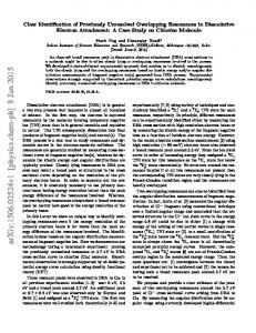 Clear Identification of Previously Unresolved Overlapping ...