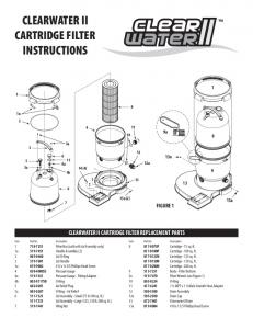 CLEARWATER II CARTRIDGE FILTER INSTRUCTIONS