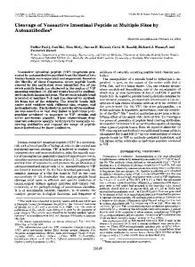 Cleavage of Vasoactive Intestinal Peptide at Multiple Sites by ...