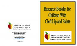 Cleft Lip and Cleft Palate - North Dakota Department of Health