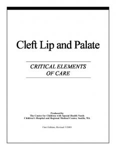 Cleft Lip and Palate - Cleft Advocate
