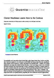Clever Machines Learn How to Be Curious