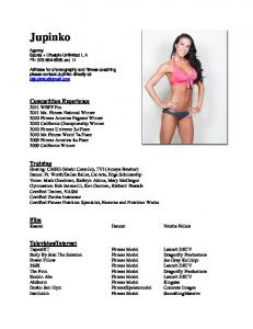 Click Here For PDF Resume - Jupinko