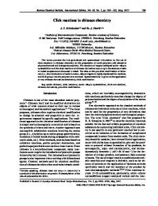 Click reactions in chitosan chemistry - Springer Link