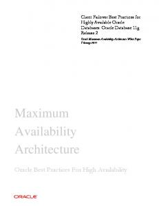 Client Failover Best Practices for Highly Available Oracle Databases ...