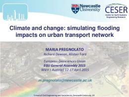 Climate and change: simulating flooding impacts on
