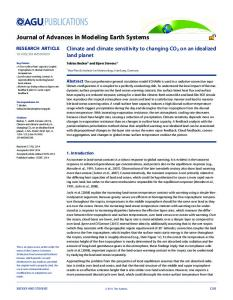Climate and climate sensitivity to changing CO2 ... - Wiley Online Library