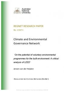 Climate and Environmental Governance Network - SSRN papers