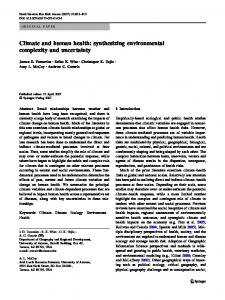 Climate and human health: synthesizing environmental complexity ...