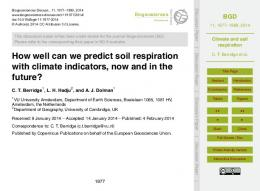 Climate and soil respiration - Biogeosciences Discussions