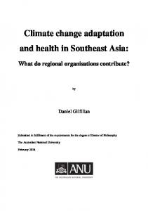 Climate change adaptation and health in Southeast