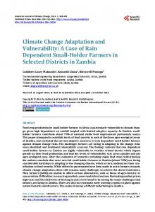 Climate Change Adaptation and Vulnerability - Scientific Research ...