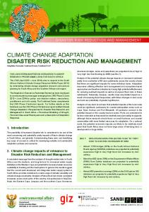 climate change adaptation disaster risk ... - Environmental Affairs