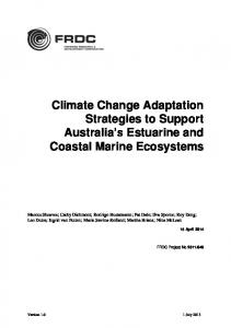 Climate Change Adaptation Strategies to Support ...