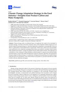 Climate Change Adaptation Strategy in the Food Industry - MDPI