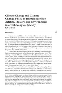 Climate Change and Climate Change Policy as Human ... - Wheaton