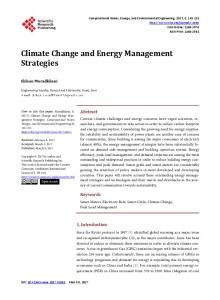 Climate Change and Energy Management Strategies - Scientific