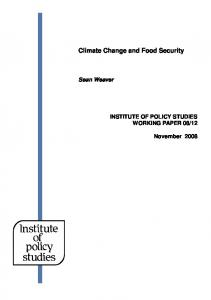 Climate Change and Food Security - Carbon Partnership