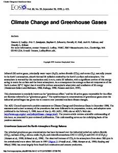 Climate Change and Greenhouse Gases