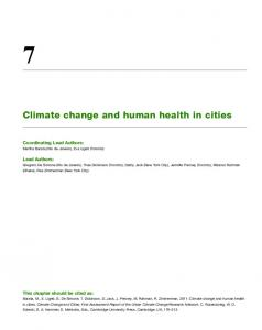 Climate change and human health in cities - Urban Climate Change ...