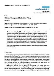 Climate Change and Industrial Policy - Semantic Scholar