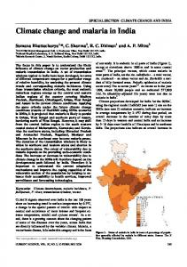Climate change and malaria in India - India Environment Portal