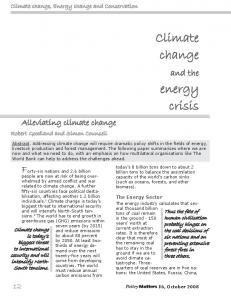 Climate change and the energy crisis - IUCN