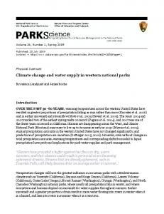 Climate change and water supply in western national parks