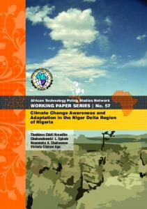 Climate Change Awareness Nigeria - African Technology Policy ...