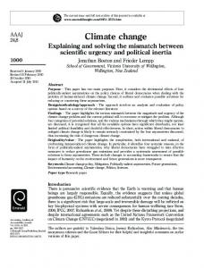 Climate change - CiteSeerX