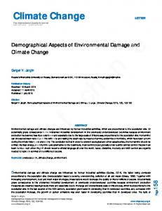 Climate Change Climate Change - Discovery Publication