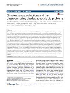 Climate change, collections and the classroom: using big data to ...